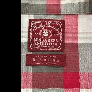 Lucky Brand Shirts - Lucky Brand Mens Plaid Snap Western Shirt, XL